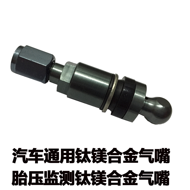 Iron general tire pressure monitoring built-in sensor gas nozzle car tirevalve titanium magnesium alloy