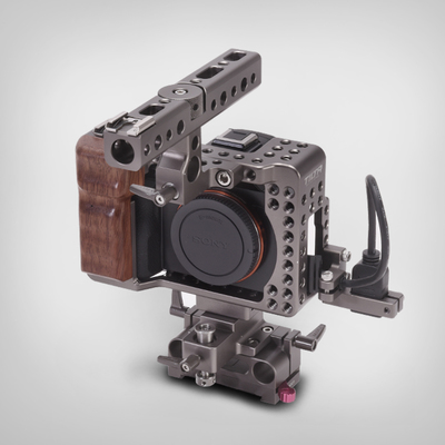 Iron head sony a7s dedicated camera kit hdmi protection cage put on the fuselage surrounded shipping