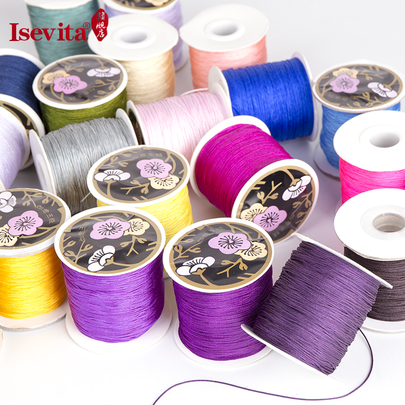 Isevita taiwan no. 72 bracelets beads jewelry line beaded wire rope braided wire line color optional