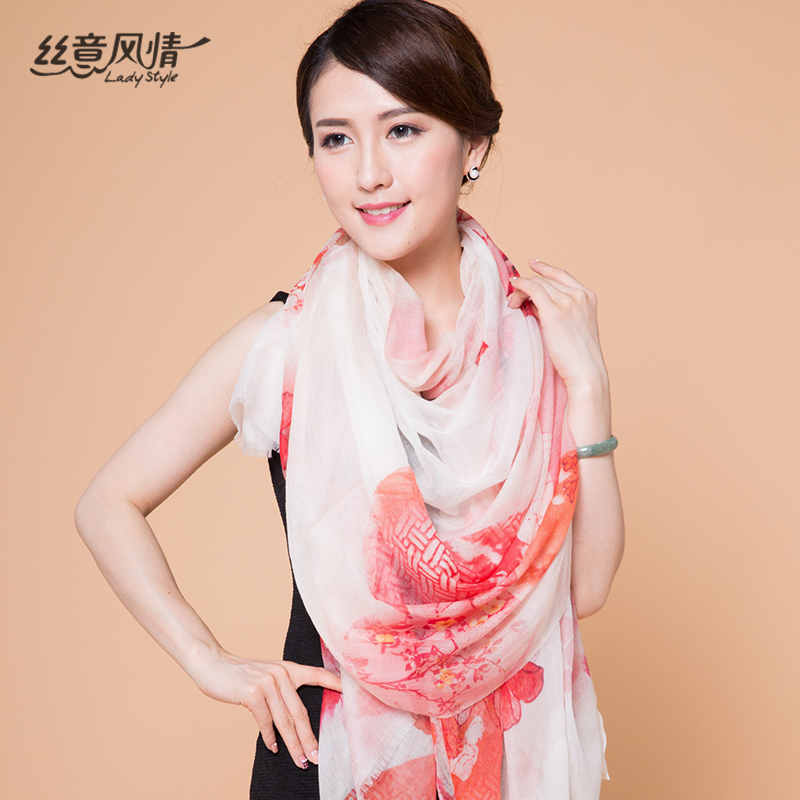 Italian style silk velvet new winter 300 wool scarf scarf shawl long section of wild thin section