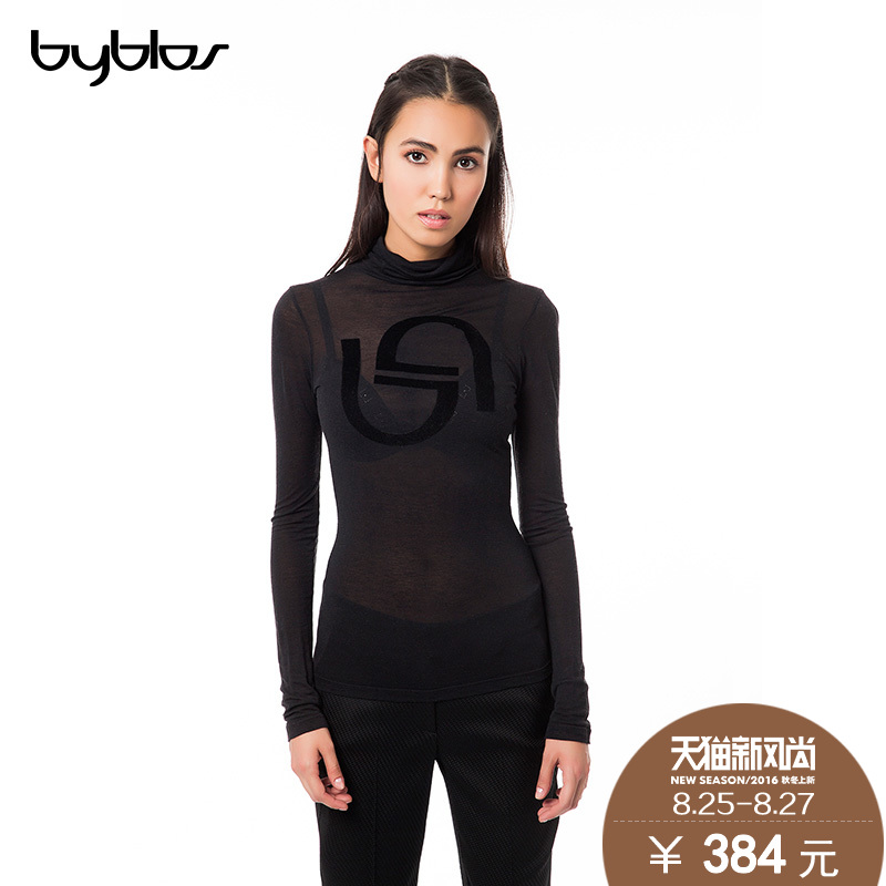 Italy byblos genuine slim was thin turtleneck sweater pullover sweater woman sexy female perspective bottoming shirt