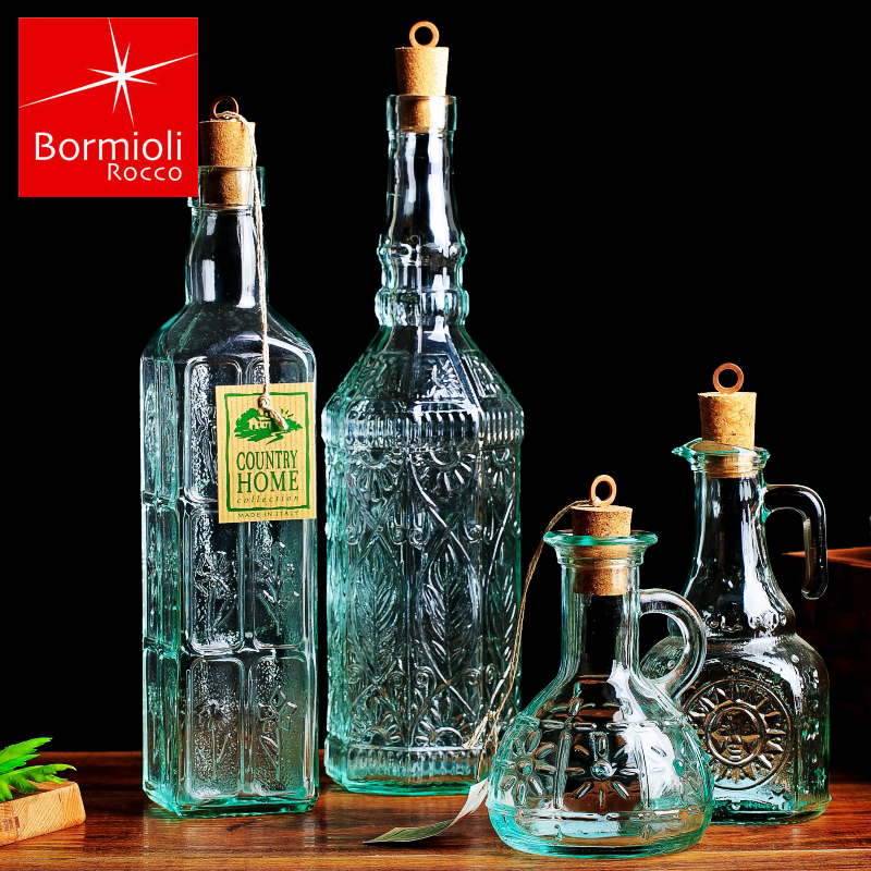 Italy imports bomi orly creative retro kitchen leakproof glass oiler cruet condiment bottles of soy sauce vinegar bottle