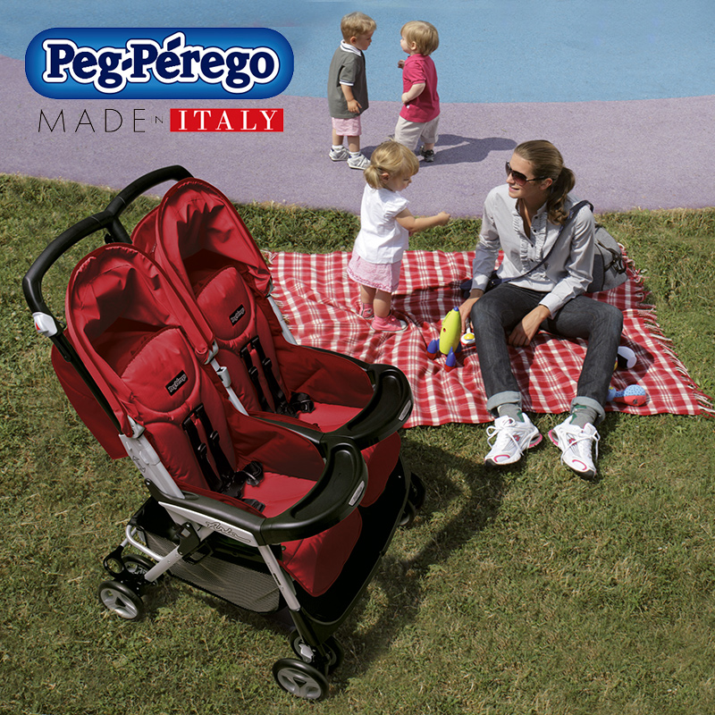 Italy imports peg perego infant stroller twin stroller twin aria