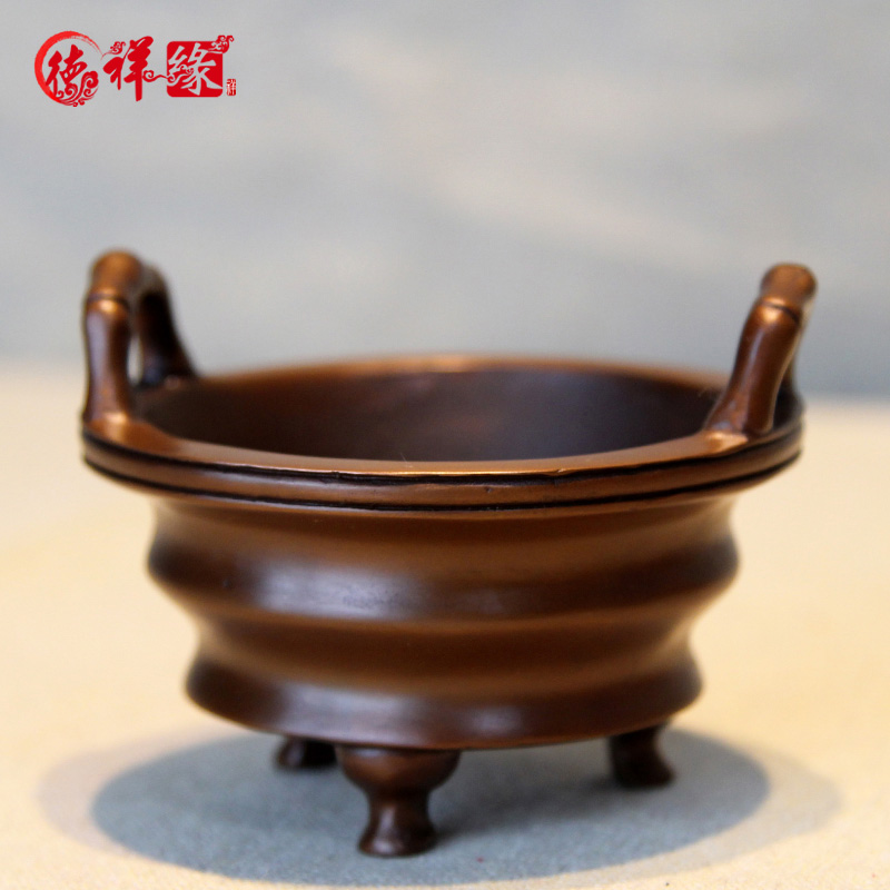 Itc edge copper copper copper incense burner stove antique room vaporizer sandalwood incense aromatherapy incense censer incense incense coil tower