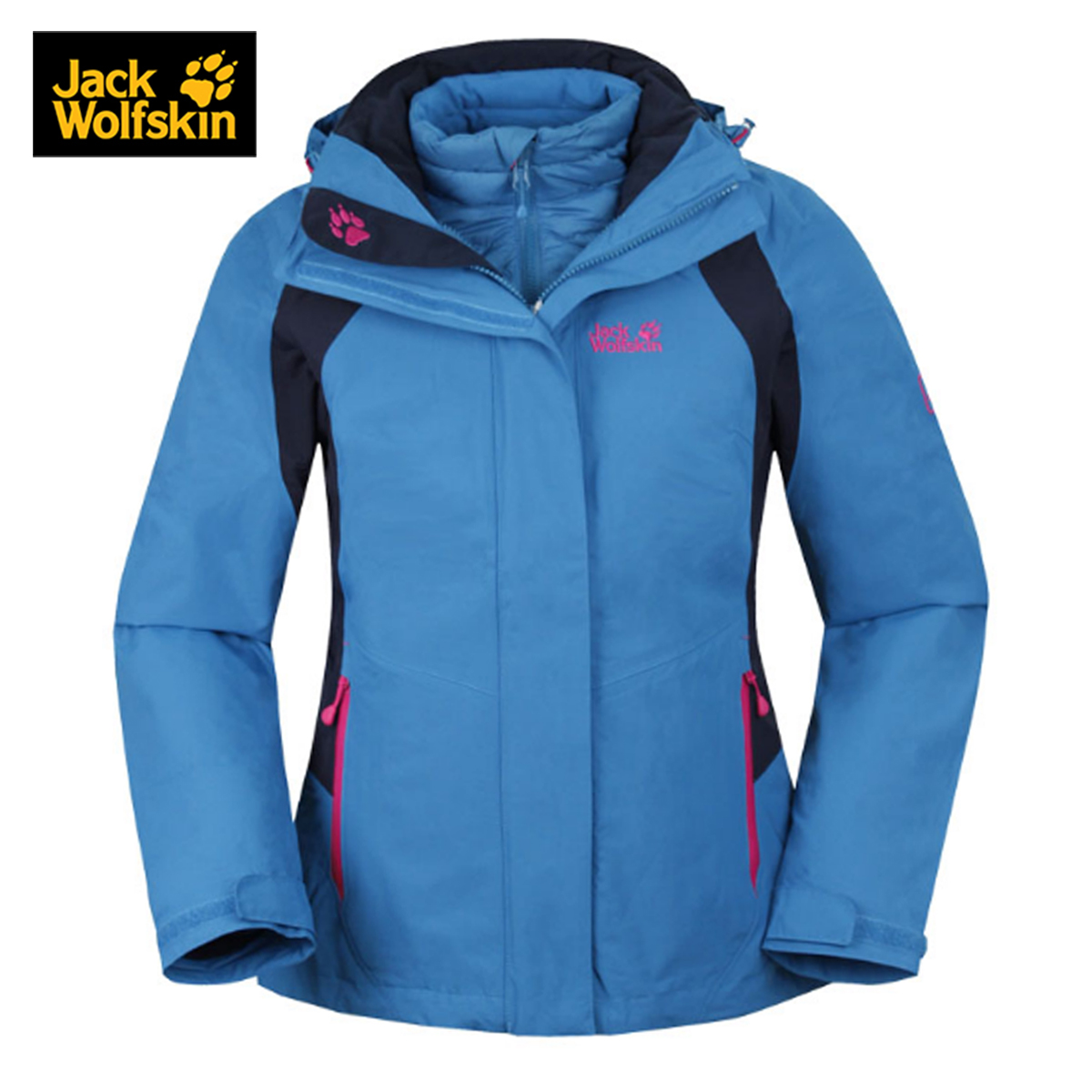 Jackwolfskin/dewclaws female models fall and winter outdoor waterproof breathable triple down feng yi chong 5007671