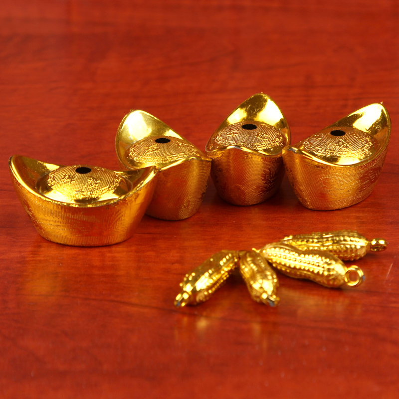 Jacuzzi zhixin wedding supplies wedding dowry golden thimble top ring goldfish gold ingot peanut hardware ten