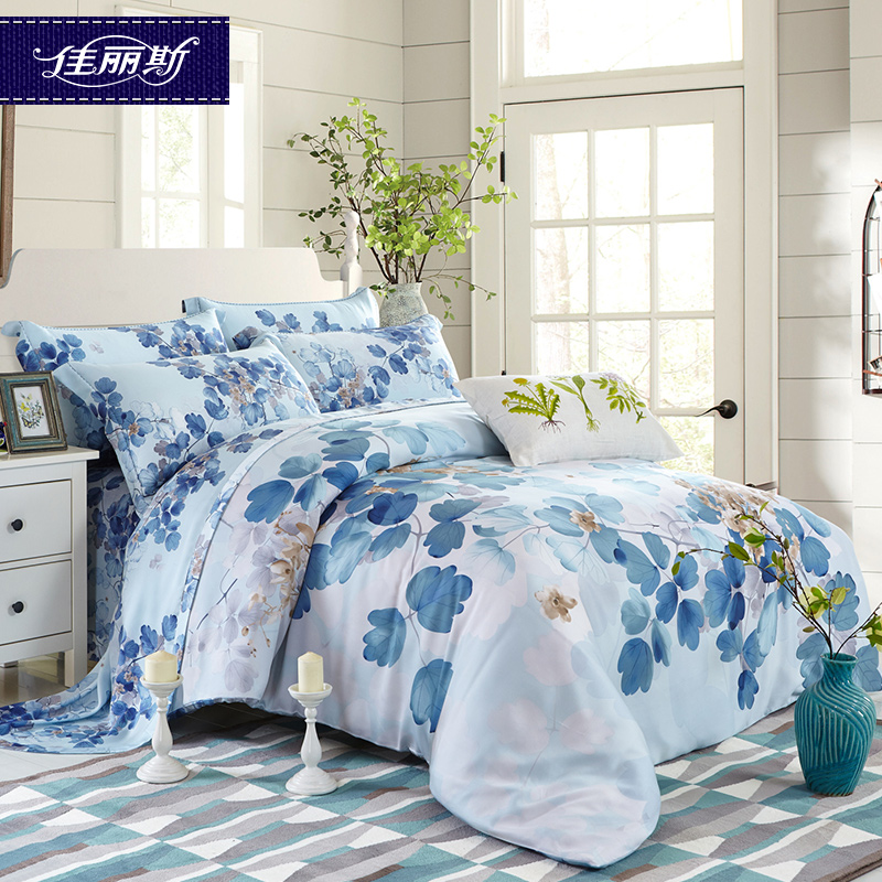 Jalice genuine sided tencel denim summer m m bed double bed linen quilt quilt bed linen