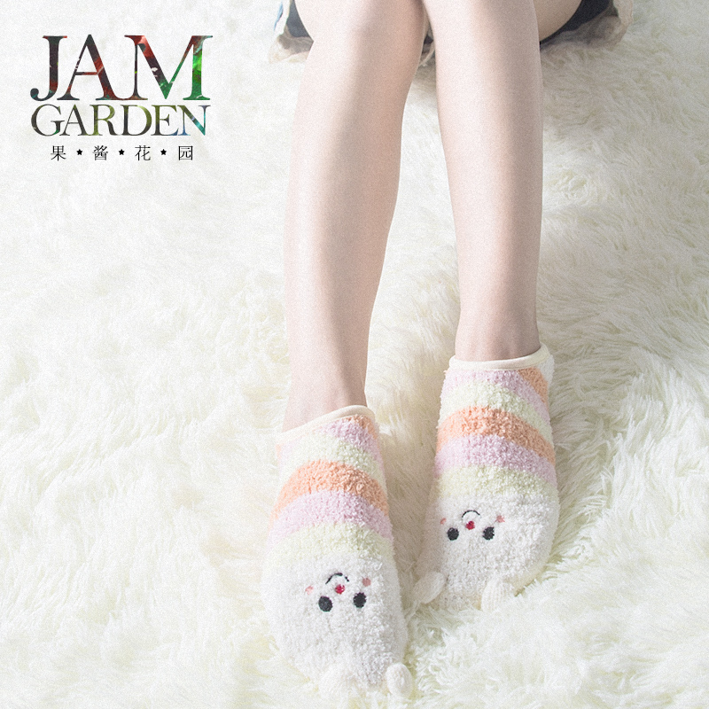 Jamgarden cute cartoon thick warm socks floor socks home socks 2016 autumn and winter 4 women 2126800