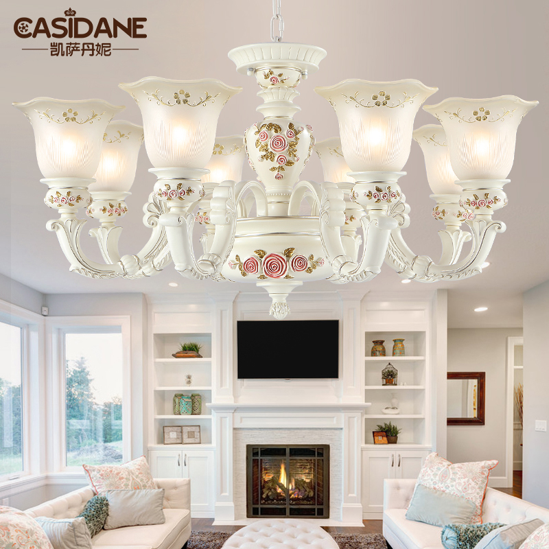 Jane european pastoral retro resin european chandeliers living room lights simple atmospheric bedroom dining hall ceiling with lighting 8126