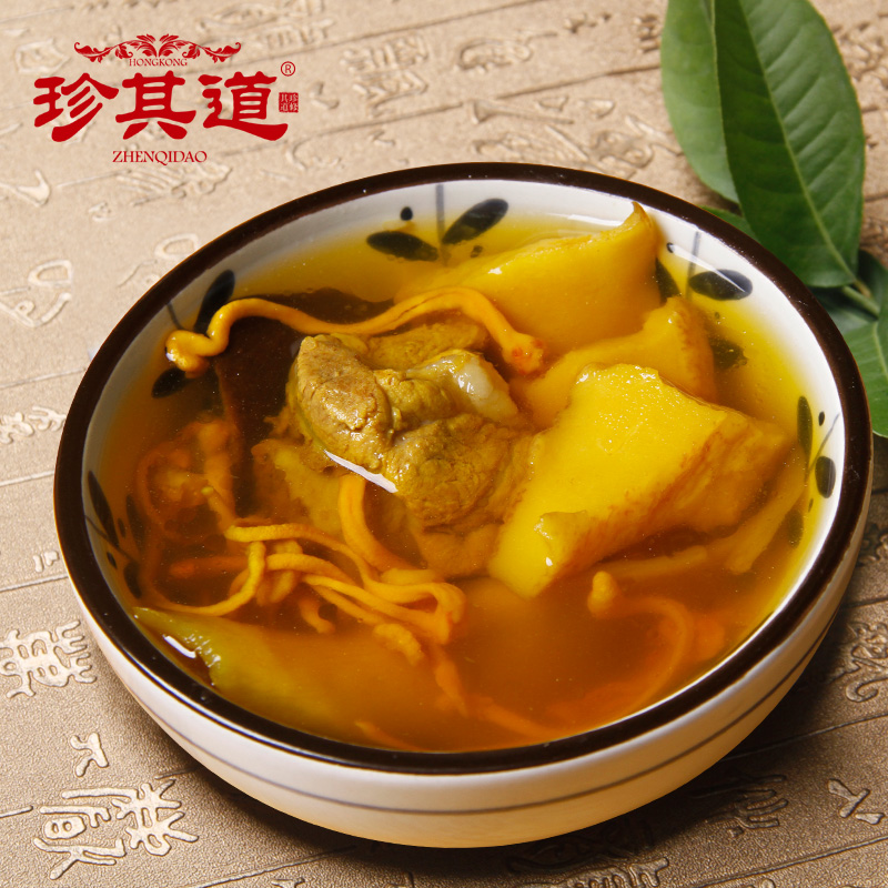 Jane the road sliced conch soup guangdong old fire soup cordyceps flower soup ingredients authentic six to eight servings