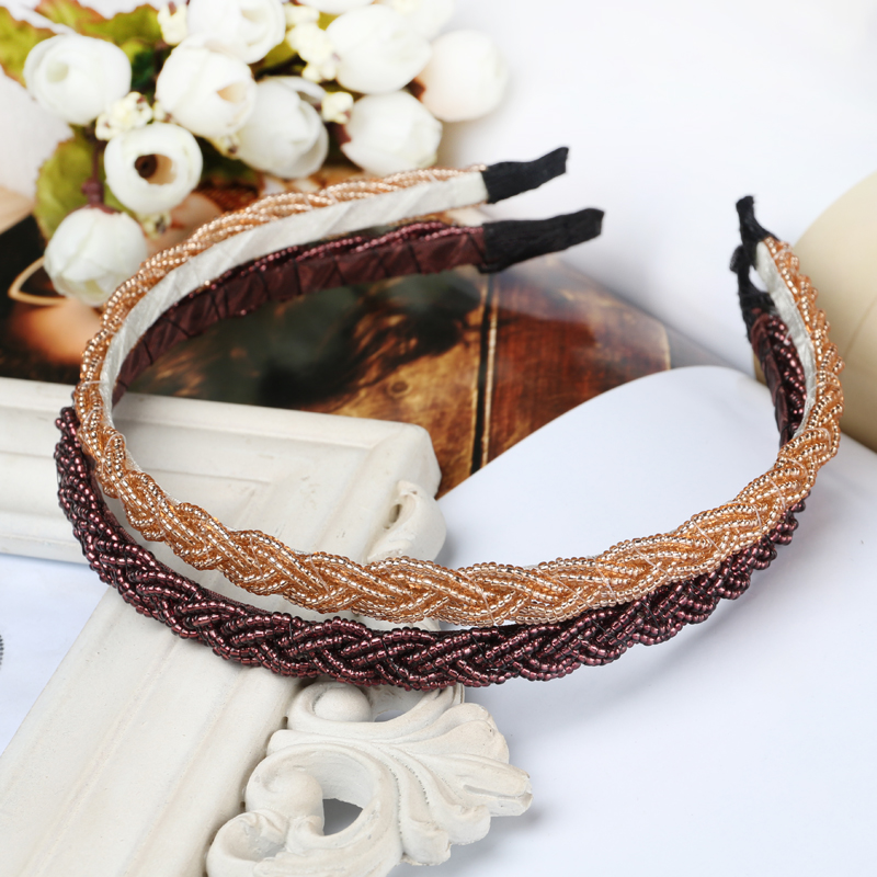 Japan and south korea temperament fashion beaded hair bands korean sweet simplicity frizzed jewelry hairpin headdress hair accessories cute decoration