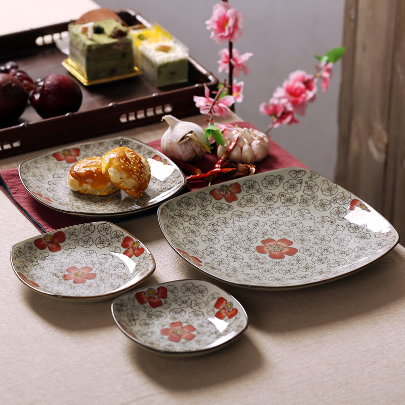 Get Quotations · Japan and south korea wind ceramic tableware square plate deepen thickened soup plate cold dish dish & China Inch Dinner Plate China Inch Dinner Plate Shopping Guide at ...