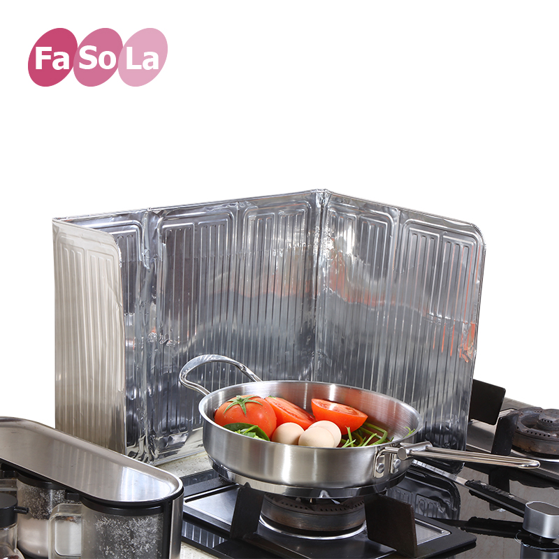 Japan fasola kitchen grease block oil grease and oil baffle plate aluminum foil splashback gas stove oil baffle