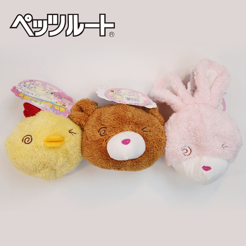 Japan has sent zi lu petzroute fun animal plush toy dog toy rattles fun toys