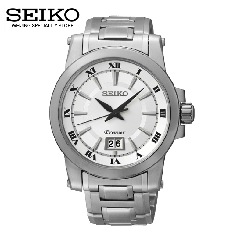 Japan imported authentic seiko seiko white quartz quartz men's watch couple of tables sur013j1