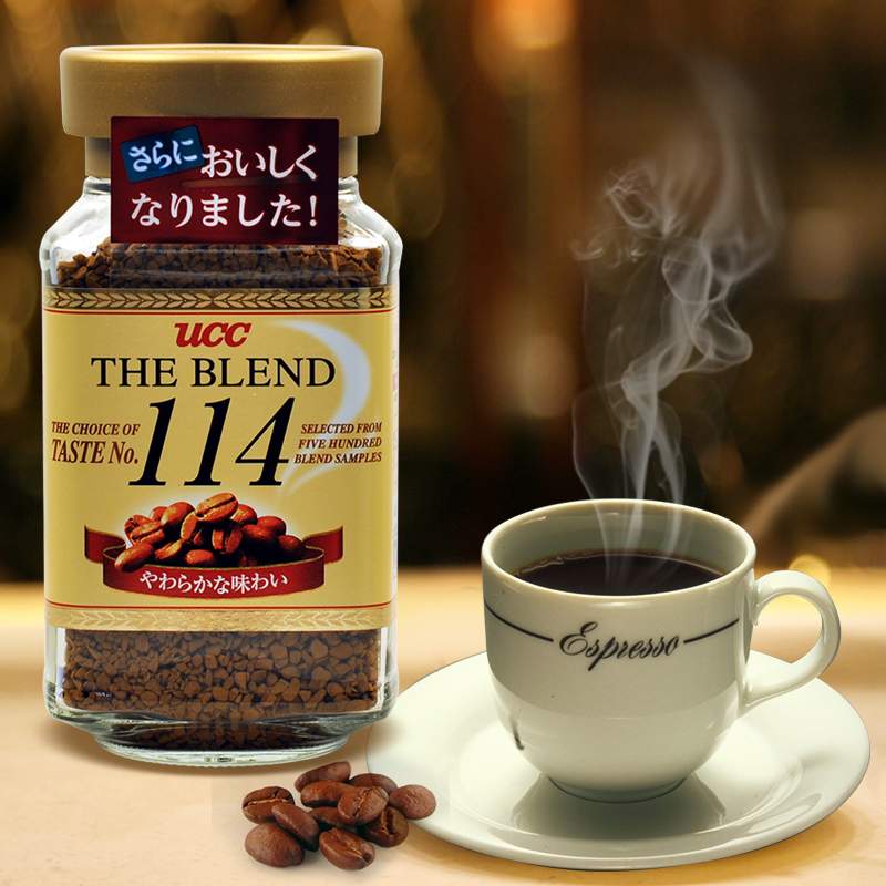 Japan imported instant coffee ucc 114 instant coffee 90g sugar alcohol instant black coffee