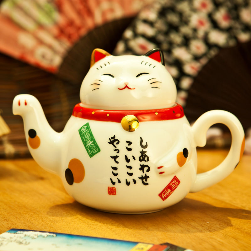 Get Quotations Japan Imports Yakushuji Kiln Teapot Lucky Cat Opening Gifts To Send Friends
