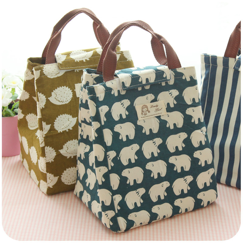 cee5cddf13 Get Quotations · Japanese lunch box large lunch bag simple canvas bag  handbag handbag waterproof insulation cold drinks cold
