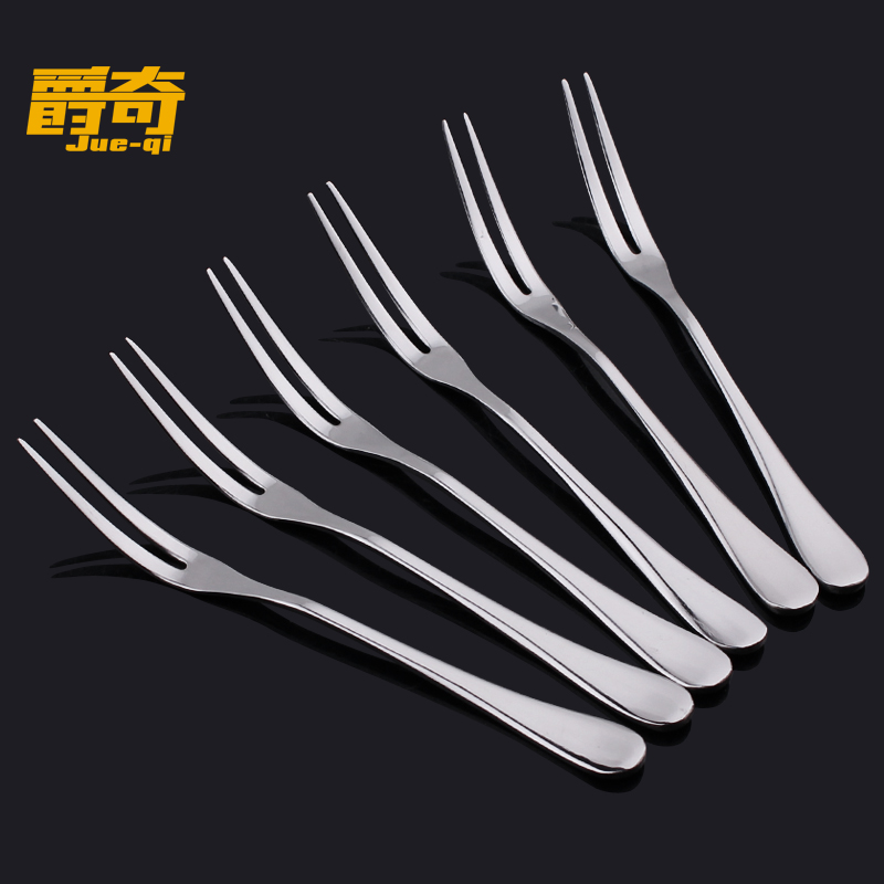Jazz odd stainless steel fruit fork fruit cake dessert fork korea signed creative fashion cute 8 3支suit