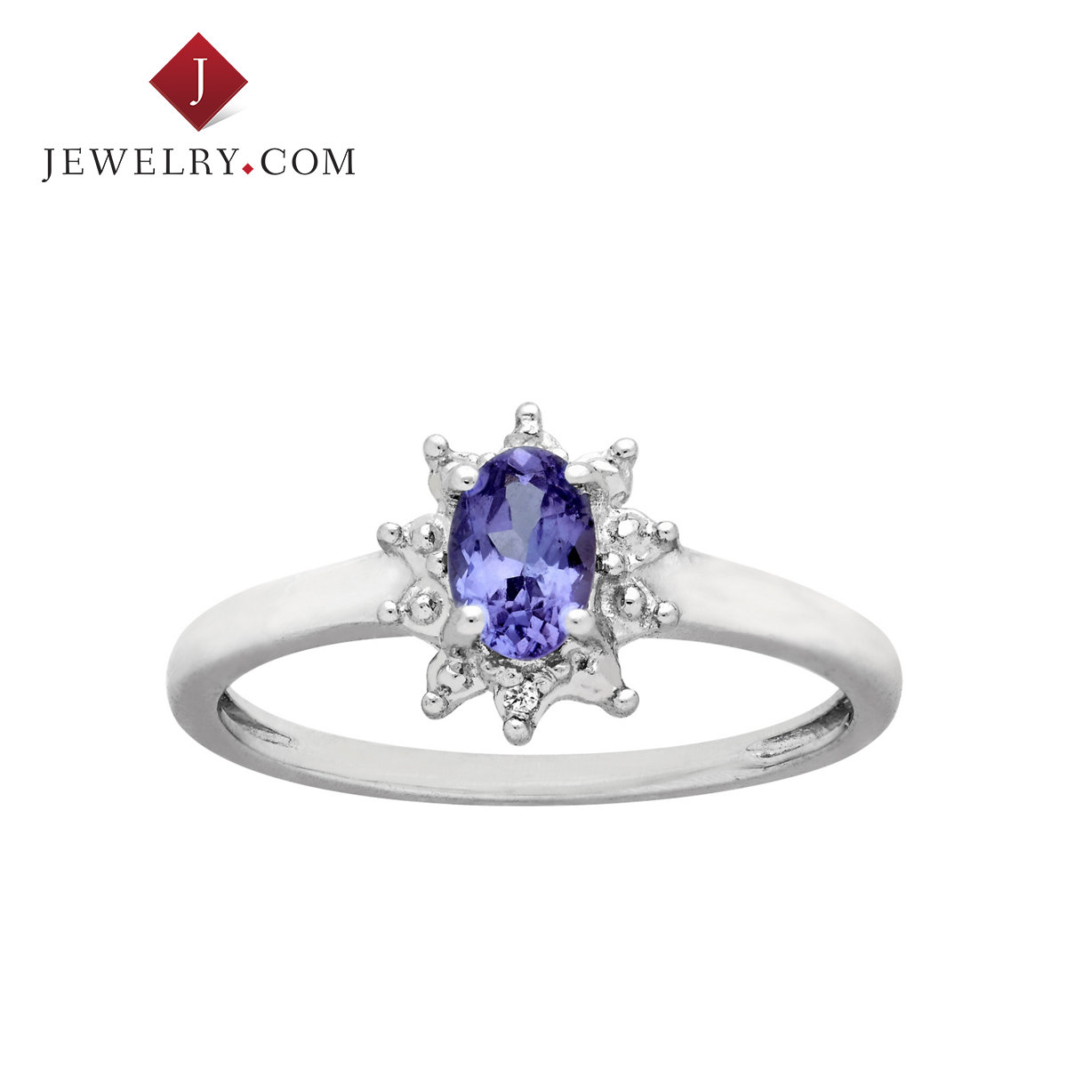 Jewelry.com official 0.375 karat tanzanite diamond ring nvjie 925 silver beads elegant and generous fashion treasure
