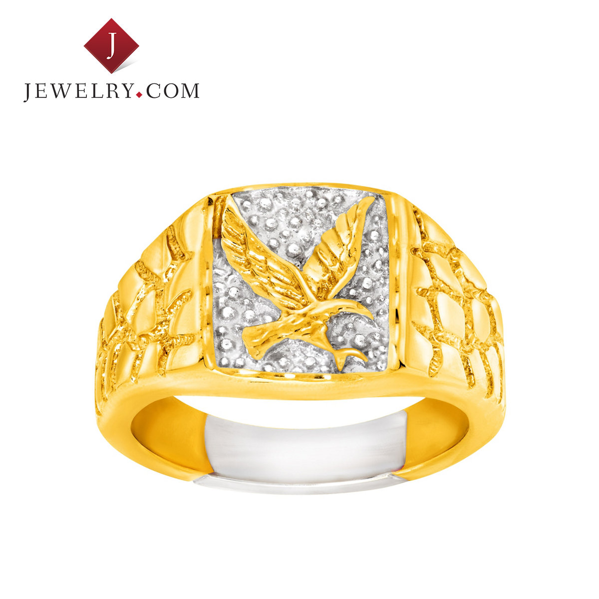 Jewelry.com official 925 k gold plated silver atmospheric condor new european and american fashion male models ring