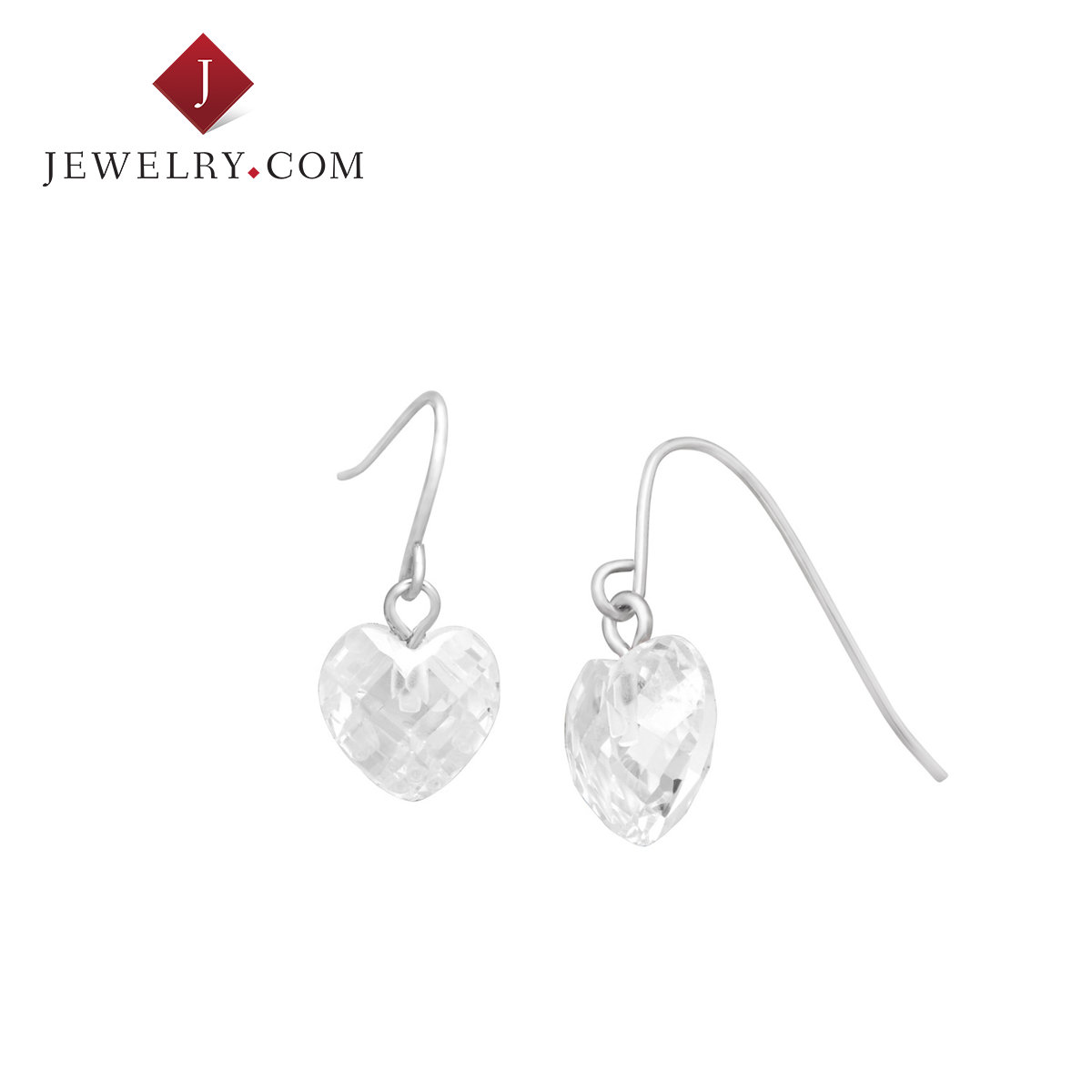 Jewelry.com official k platinum a-al2o3 baddeleyite beautiful romantic and fresh sweet heart earrings female models