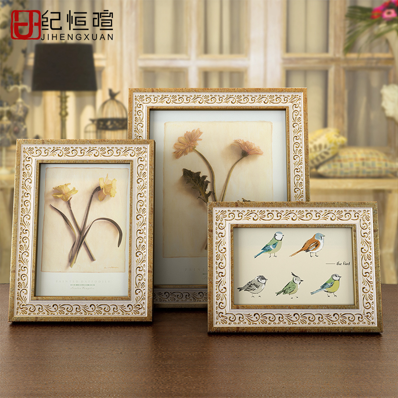 Ji hengxuan european retro swing sets 6-inch photo frame swing sets 7 6 8 10 inch frame creative photo frame photo frame living room bedroom