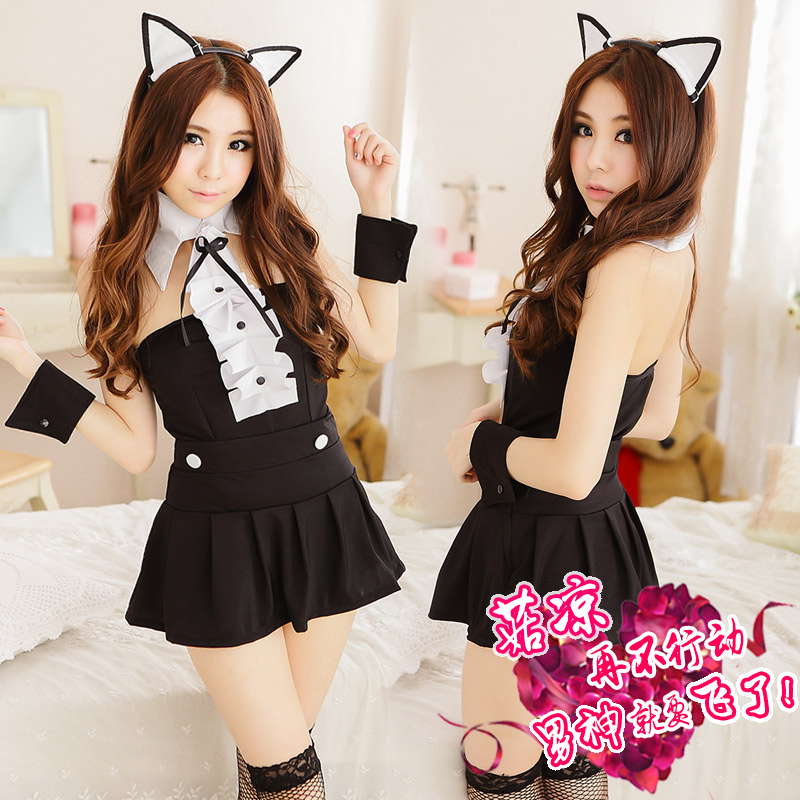 Ji mystery sexy cat girl uniform cosplay suit sm contains adult female sexy lingerie show