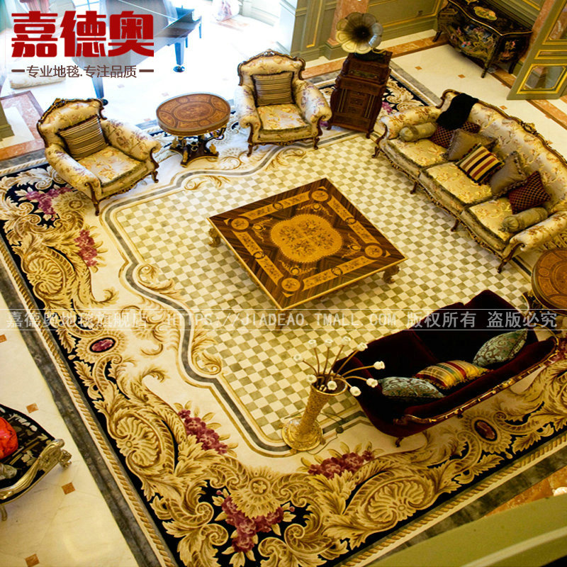 Jia ao handmade carved wool carpet living room coffee table modern minimalist european american bedroom custom made