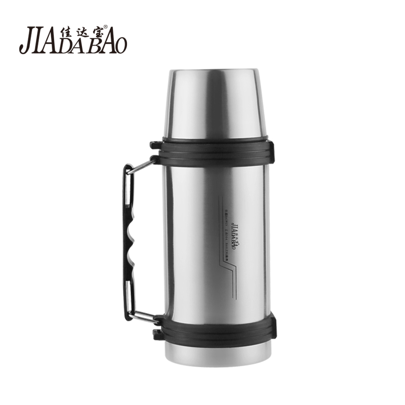 Jia da bao 304 stainless steel thermal insulation pot kettle outdoor car travel business portable vacuum insulation bottle with a handle