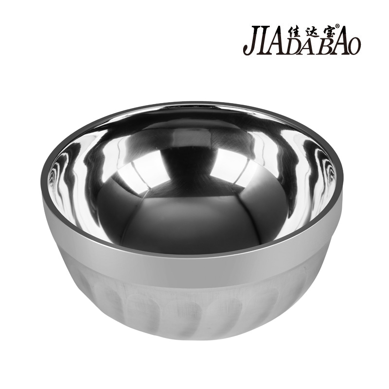 Jia da bao double insulation against hot soup bowl bowl bowl baby baby bowl stainless steel cutlery 11-20 cm