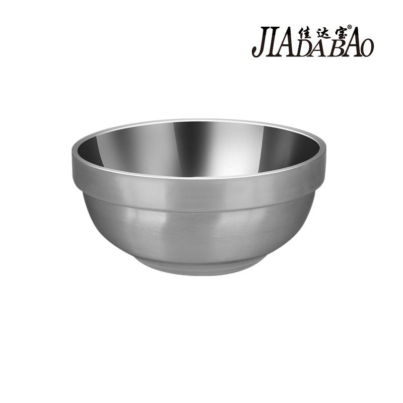 Jia da bao nonmagnetic stainless steel bowl double insulation against hot soup bowl baby baby bowl 12-18 cm