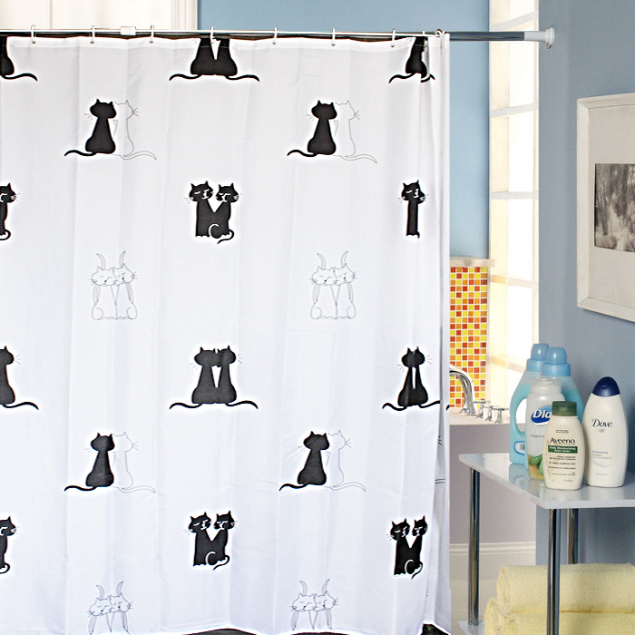 Jia jia mo mo authentic suit bathroom shower curtain thick waterproof mildew shower curtain fabric shower curtain send metal hook free shipping