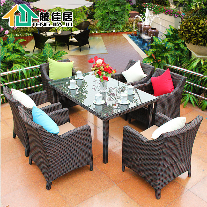 Jia ju rattan chair rattan chair combination of casual outdoor patio dining tables and chairs tables and chairs outdoor furniture suite balcony