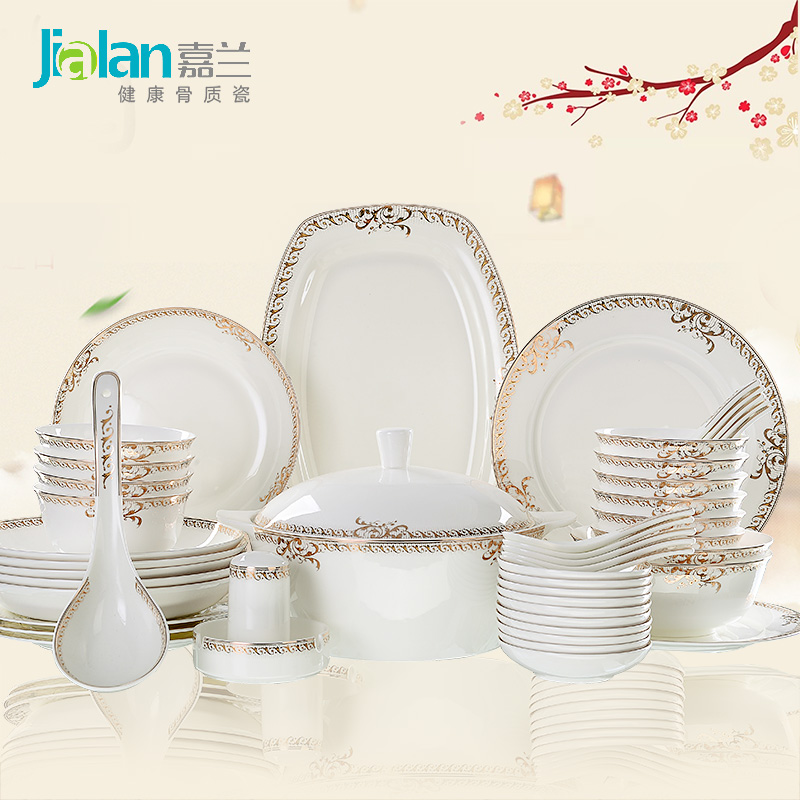 Jia lan victoria 56 continental bone china tableware suit phnom penh tableware bowl suits wedding gifts