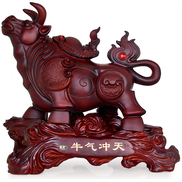 Jia yi ceremony cow ornaments office desk living room tv cabinet ornaments opening gifts feng shui lucky craft
