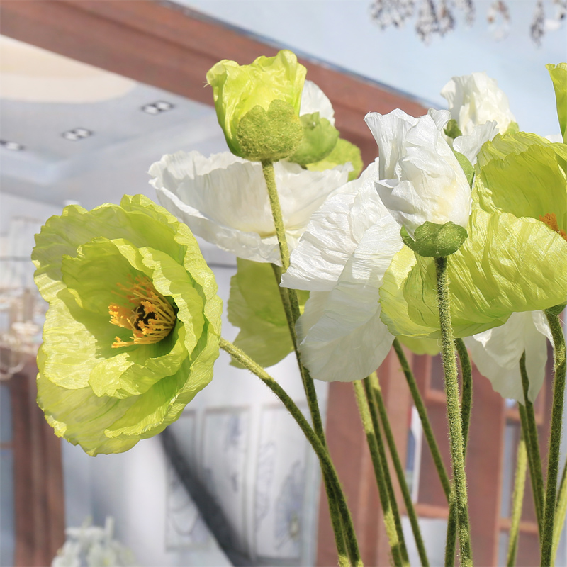 China artificial red poppies china artificial red poppies shopping get quotations jia yi liya single branch artificial flowers artificial flowers living room floor flower bouquet simulation long mightylinksfo