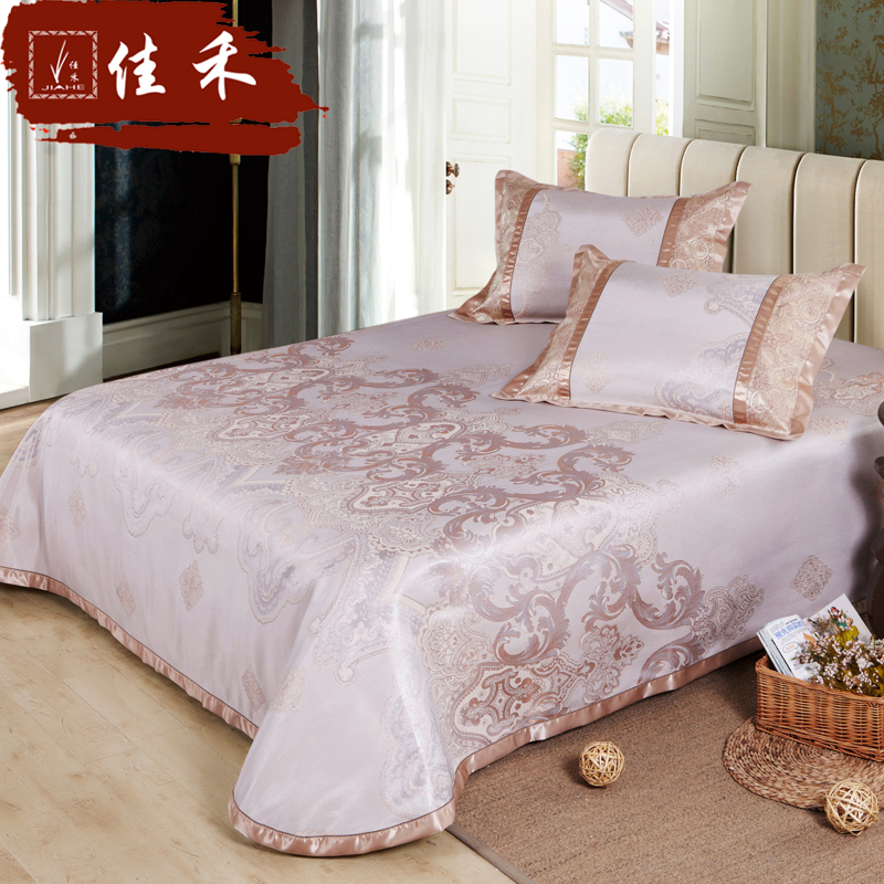 Jiahe 1.51.8m bed can be folded linen mat three sets of summer washed air conditioning mat 1.5 m ice silk seat