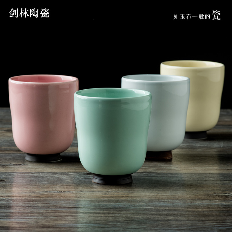 Jian lin creative ceramic mug cup milk cup coffee cup couple cups of water cups personality simple ceramic cup