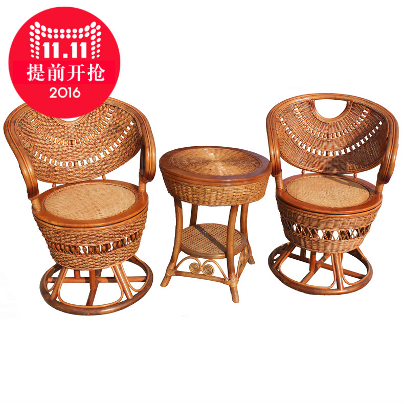 Jiangnan yiyuan indonesia luxury natural rattan furniture rattan chair rattan chair really wicker chair lounge chair combination three sets