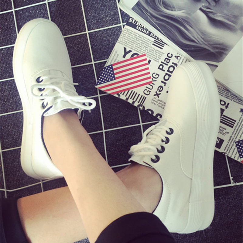 Jiao yi 2016 new spring and summer shoes student bottomed canvas shoes lace casual shoes white shoes shoes