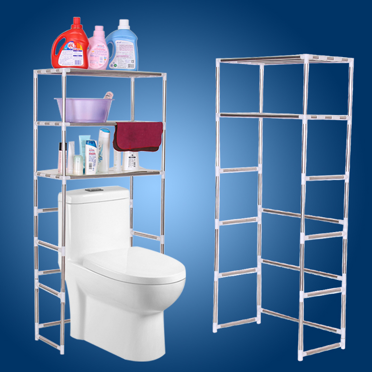 Jiayuan stainless steel shelf bathroom toilet washing machine storage rack storage rack bathroom storage racks