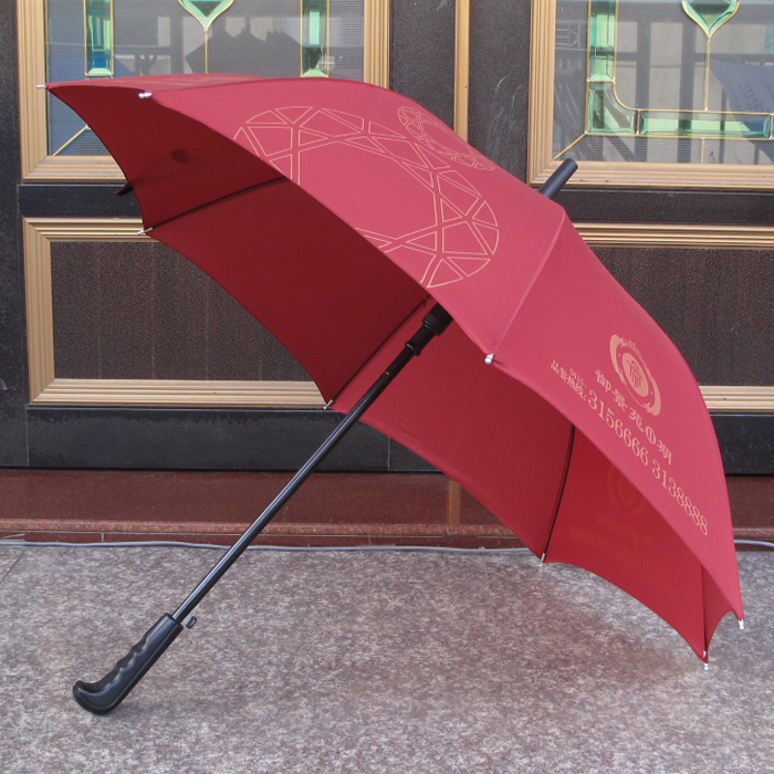 Jie ke shade umbrella skillet customized advertising umbrella factory direct creative straight shank carom customized logo can be printed