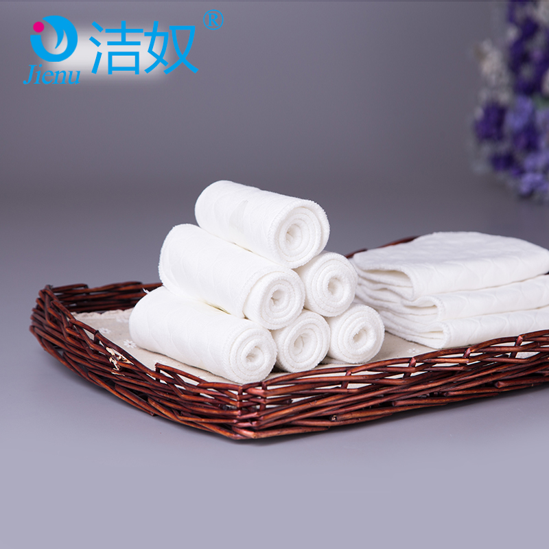 Jie slave baby 3 layer 6 layer breathable cotton gauze diapers newborn urine ecological cotton washable cloth 10 Two loaded