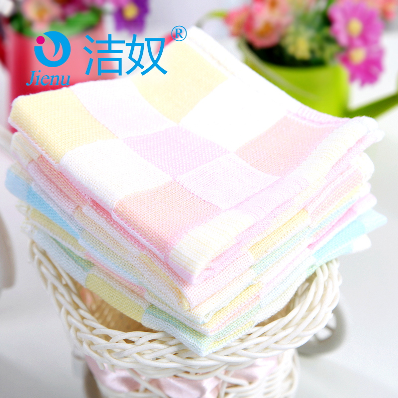 Jie slave newborn baby bibs baby bibs cotton gauze feeding small square towel bibs rice pocket 3 installed