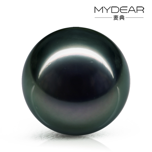 Jimmy code jewelry 16- 17mm natural pearl perfect circle tahitian black pearls tasaki glare black and blue color