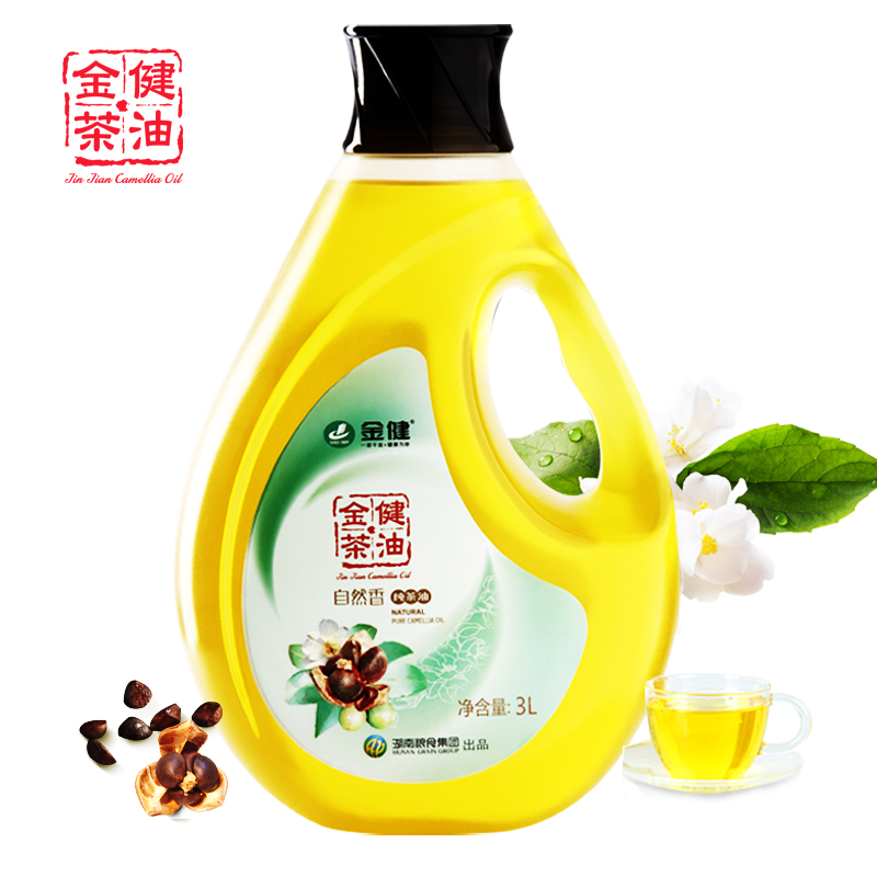 Jin jian natural fragrant tea tree oil tea seed oil cold pressed camellia 3l edible wild camellia oil physical press