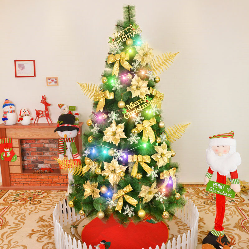Jin ye 1.5 m christmas tree package encryption 150cm christmas tree decorated pine needles pine needles mixed dress shopping