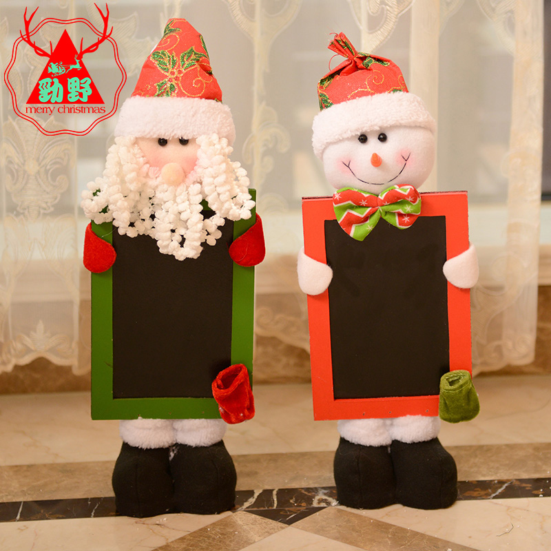 Jin ye chalkboard door hanging door hanging christmas decorations santa claus christmas door wreath hanging christmas decorations supplies