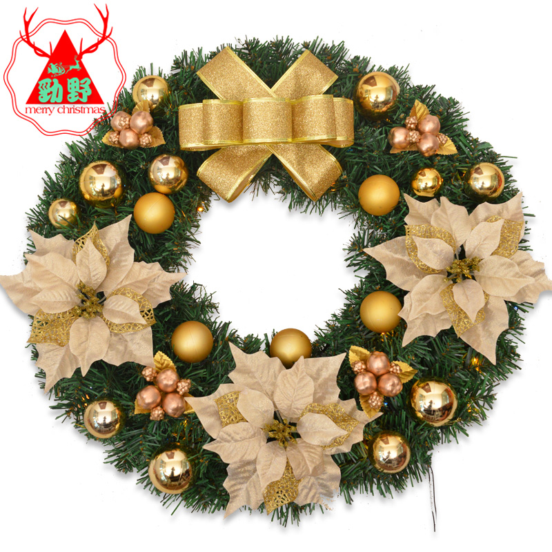 Jin ye christmas celebrations decorative christmas wreath christmas decorations christmas wreath door trim ornaments